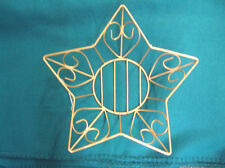 BASKET ( WIRE) (  GOLD COLOR ) STAR....   GREAT FOR A GIFT BASKET.