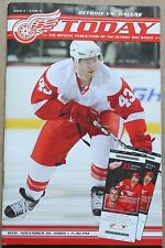 2009-10 Dallas Stars at Detroit Red Wings Program Darren Helm Cover