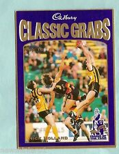 CADBURY AFL CARD #16  NICK HOLLAND, HAWTHORN HAWKS