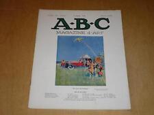 ABC Magazine d'Art N°8 Août 1925 / Meuble moderne à l'Expo Arts Décoratifs etc..