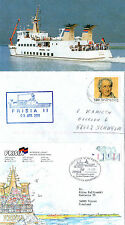 German Passenger Ship Ms Frisia Ii 2 Ships Cache Covers & A Magazine Picture