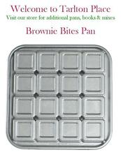 Nordicware BROWNIE BITES PAN Crispy Outside Fudgy Inside 16 Cavity Cast Aluminum