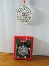 Lenox Sparkle and Scroll Snowflake Silverplated and Crystal Ornament New in Box