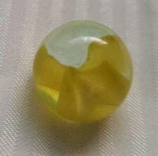 Cateye Yellow Glass Marble Ball