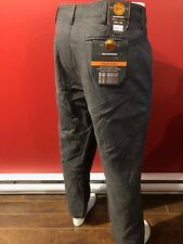 WEATHERPROOF Men's Steel Grey Flannel Lined Pants - Size 40W x 30L - NWT $70