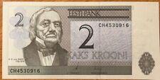 1992 ~ ESTONIA ~ 2 KRONEN Banknote ~ CRISP UNCIRCULATED
