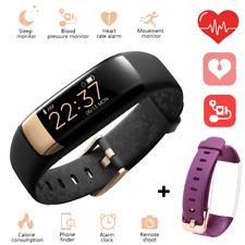 Siroflo S1 BT Smart Bracelet Wristband Sleep Heart Rate Monitor W/ Purple Strap