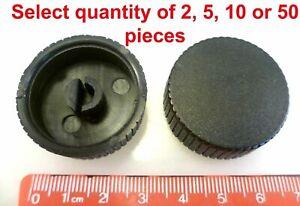 Black Control Knob Diam 32 x 10mm Push On 6mm D Shaft 2 5 10 Pieces OMQ1-2-08