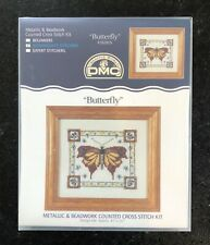 """DMC Counted Cross-Stitch Kit - """"BUTTERFLY"""" - 4""""x3"""" - NEW"""