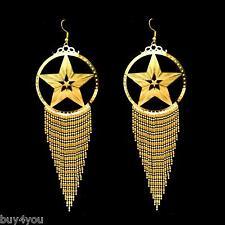XXL 14cm aretes pendientes ohrhänger joyas danza vientre belly dance Orient oro