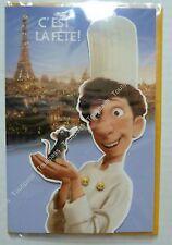 """DISNEY Pixar carte Ratatouille """" c'est la fête"""" Tour Eiffel Paris"""