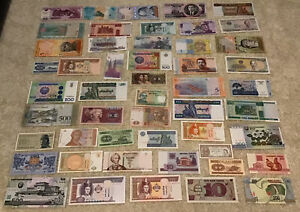 Lot Of 50 X World Banknotes. All Different Set. 50 Pcs. All Uncirculated.