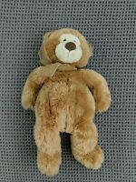 Gund Teddy Bear Plush tan beige light brown 45983 stuffed animal bow ribbon