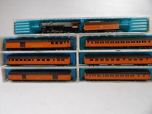 Milwaukee Road Rivarossi N scale 6 car passenger set & 4-6-2 Steam loco # 9197