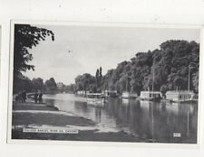 College Barges River Isis Oxford Vintage Postcard 718a