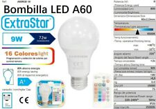 Bombilla E27 LED 9W Luz Multicolor RGB 16 Colores + Blanca 6400k Mando distancia
