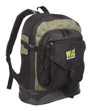 Mens Backpack Rucksack Bag SPORTS FISHING CAMPING TRAVEL WORK SCHOOL KHAKI 006L