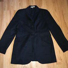 CARVEN Tailored Black Jacket Blazer £420 UK 8 FR 36