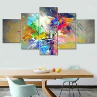 Psychedelic Light Bulb 5 panel canvas Wall Art Home Decor Poster Print