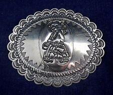 Manufactured Girl Walking Pin Native American Design Sterling Silver