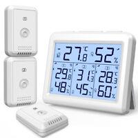 Digital_LCD Indoor Thermometer Hygrometer Room Temperature Humidity(1/3 Sensor)