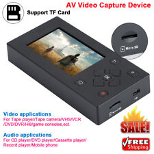 VHS Camcorder Hi8 Tape Converter Audio Video Capture to Digital AV Recorder
