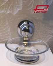 Accessori bagno Portasapone arredo dispenser in vetro sospeso supporto cromato