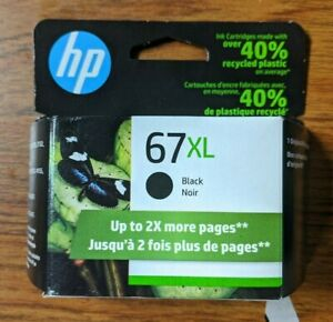 HP 67XL Original BLACK Ink Cartridge 1-Pack Exp Sep/2022 3YM57AN NEW OPEN BOX
