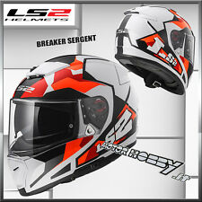CASCO INTEGRALE STRADA LS2 FF390 BREAKER SERGENT ORANGE WHITE RED TAGLIA M