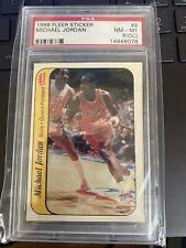 1986-87 Fleer Michael Jordan ROOKIE Sticker #8 GRADED RC PSA 8 NR-MT OC