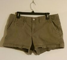 Elle Shorts Womens Size 14 Olive Green Flat Front