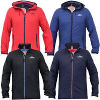 mens Crosshatch jacket coat hooded bubble puffer padded fleece lined zip winter