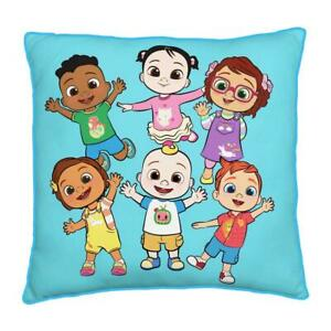 Cocomelon Square Cushion Pre-Filled Boys Girls Youtube Show Blue