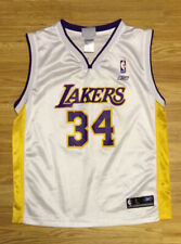 Reebok Los Angeles Lakers Shaquille O'Neal Youth White Jersey Size Large 14-16