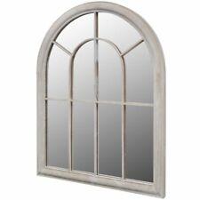 Vidaxl espejo Rústico en forma de arco hierro vidrio blanco antiguo 69x89 cm