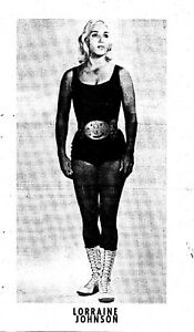 LORRAINE JOHNSON NWA WRESTLING ORIGINAL METAL PRINTING PLATE 1970'S