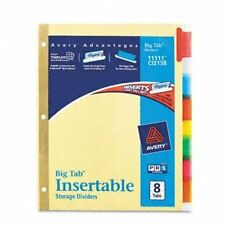 "Avery Worksaver Big Tab Insertable Divider - Blank - 8.50"" X 11"" - 8 / Set -"