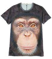 Monkey Face T-Shirt  chimpanzee chimp orangutan all over print licensed tee