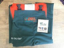 NEW OEL ARC FLASH PROTECTIVE BIB OVERALL, 25 CAL/CM2 Men's Large Green AFW085