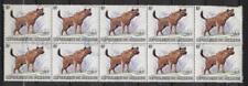 Burundi WWF-HYENA-Block 10x 85 Francs stamps-Mi KW/Catval 1500€-Mi1595-1982