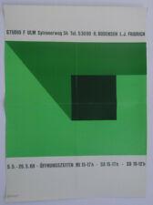 Plakat Poster - R. Bodenseh 1968 - Studio F Ulm - konkrete Kunst - Siebdruck