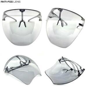 Oversized Bubble Face Shield Visor SUN GLASSES Protective Eyewear Anti Fog Lens