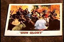 GUN GLORY 1957 LOBBY CARD #6 WESTERN
