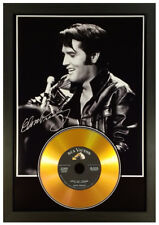 More details for elvis presley signed photograph gold cd disc collectable gift memorabilia