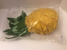 NEW FIONA WALKER FELTED WOOL YELLOW HALF PINEAPPLE WALL HANGING Approx 17inches