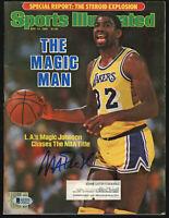 Lakers Magic Johnson Signed May 1985 Sports Illustrated Magazine BAS #MJ02995