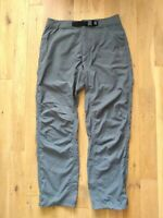 "Men's Mountain Hardwear Trousers, Grey, Hiking Camping, Size M, W 32"" L 34"""