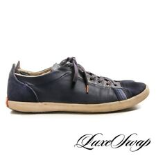 MODERN Paul Smith Jeans Navy Blue Vestri Suede Leather Sport Sneakers Shoes 9 NR