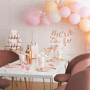 Hen Party Accessories, Team Bride To Be Blush Pink & Rose Gold Party Decorations