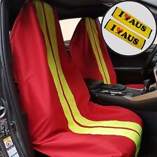 Red Throw Over Slip On Car Seat Covers & Seat Belts Shoulder Pads For Honda VW